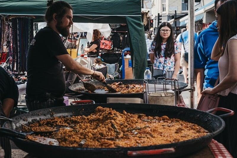 שוק פורטובלו בלונדון: מדריך קניות